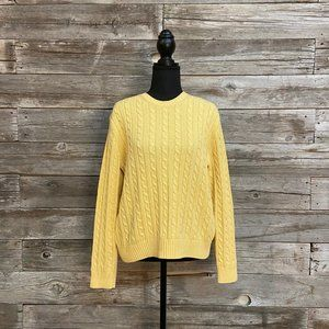 ✨🌼Brooks Brother Yellow Cable Knit Sweater ✨